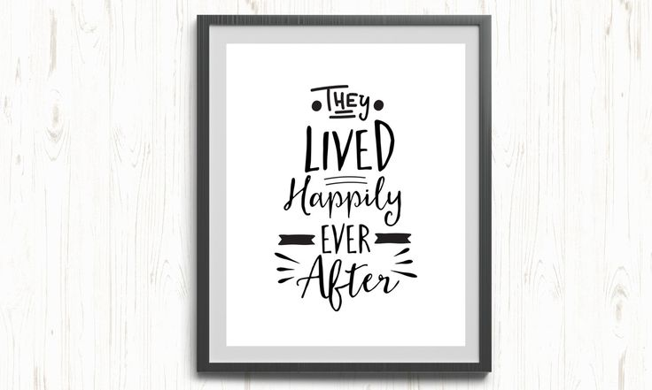 The lived happily ever after printable, wall art poster, wedding printable, wedding poster, lived happily printable, happy ending printable by ThePrintableCorner on Etsy