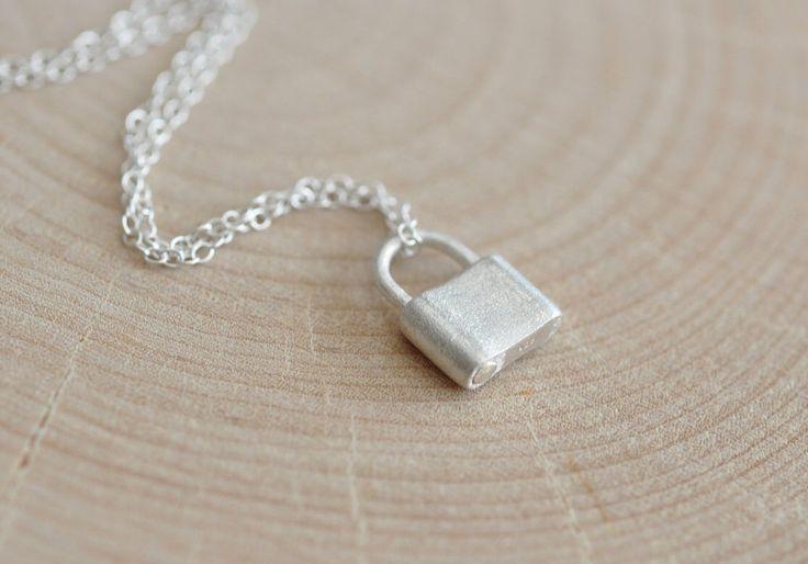 Padlock Necklace in Sterling Silver 925, Sterling Silver Lock Pendant, Jamber Jewels 925 by JamberJewels on Etsy https://www.etsy.com/uk/listing/477357841/padlock-necklace-in-sterling-silver-925