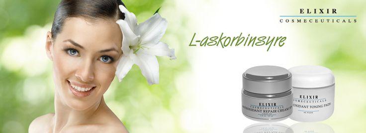 Informasjon om bruk av L-askorbinsyre i hudpleie produkter fra Elixir.