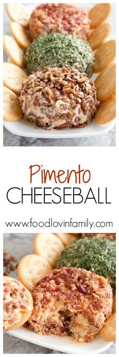 A southern appetizer you can't resist. This pimento cheese ball recipe is creamy and the perfect spread for a cracker or sandwich. | http://www.foodlovinfamily.com/pimento-cheese-ball/