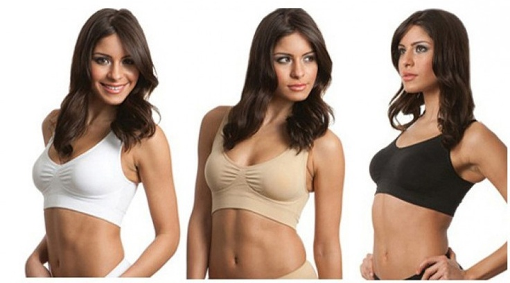 £14.99 for 3 comfy bras with removable pads in white, nude & black from Buy It Now Gifts – save 79%