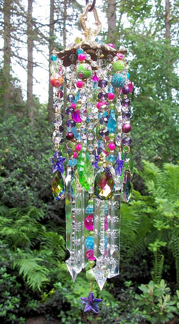 Gypsy Crystal Wind Chime On Hold van sheriscrystals op Etsy