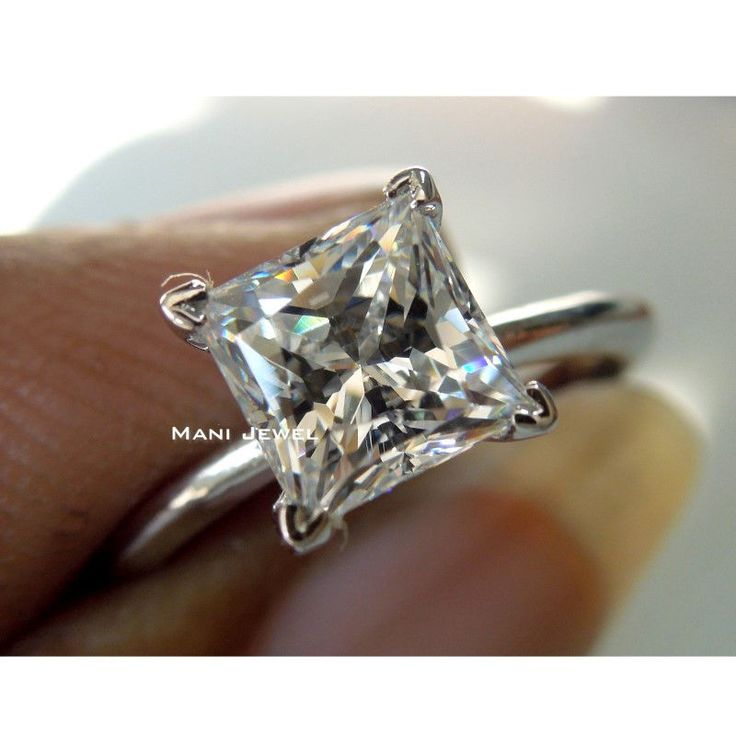 2.00CT PRINCESS CUT SOLITAIRE ENGAGEMENT RING 10K SOLID WHITE GOLD Anniversary  #ManiJewel #Solitaire #RL04325