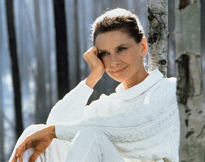 Hepburn in her final film, *Always*.  In many ways, the older she got, the better she looked, I've thought. And always there was Audrey there beneath.