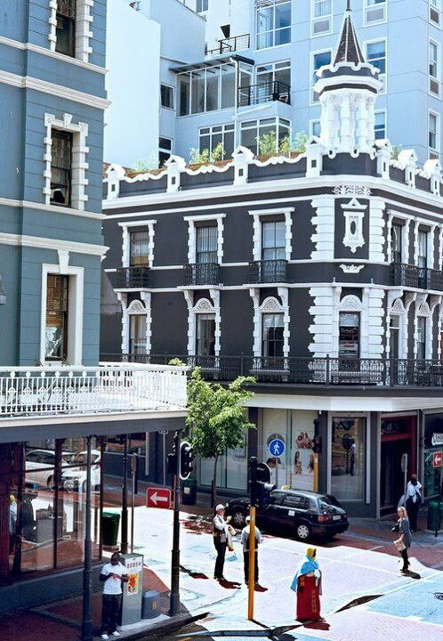 Capetown, South Africa. I can see the colonial influence of the Boors (German-Dutch?) in the architecture here.