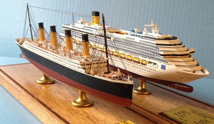 Costa Concordia vs Titanic   Model boat plans, Titanic ...
