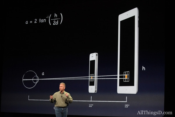 Visualization of the scale of the new iPad via @allthingsd