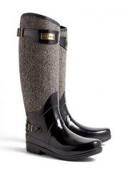 Tweed Wellington Boots by Hunter
