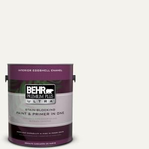 BEHR Premium Plus Ultra 1 gal. #PR-W14 Bit Of Sugar Eggshell Enamel Interior Paint and Primer in One  – Front door
