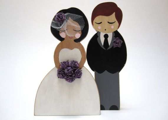 Personalized Custom Wooden African American Bride And