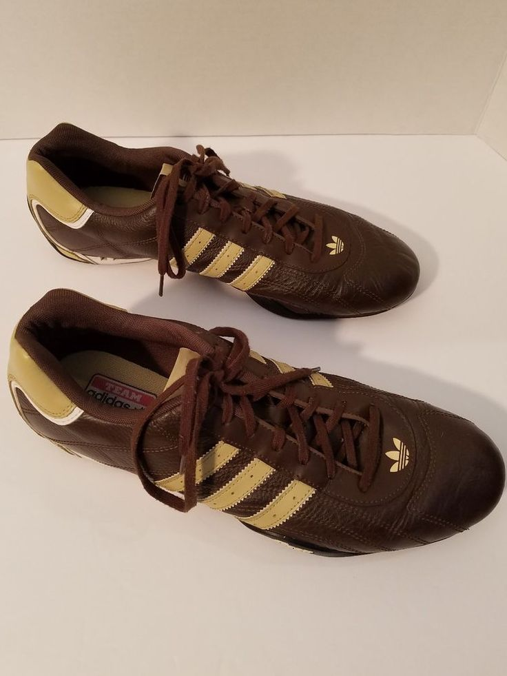 Team Adidas Goodyear Brown Leather Shoes - Sneakers Footwear Mens - Size US 11.5 | Clothing, Shoes & Accessories, Men's Shoes, Athletic | eBay!