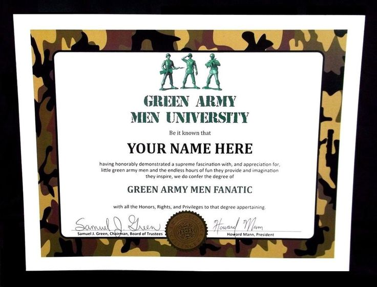GREEN ARMY MEN UNIVERSITY plastic toy soldiers DIPLOMA vintage military figures #Unbranded