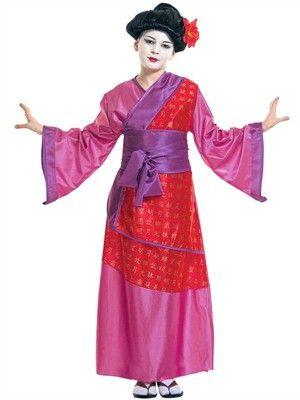 Kina Geisha Kimono Kostume Kr. 185,-