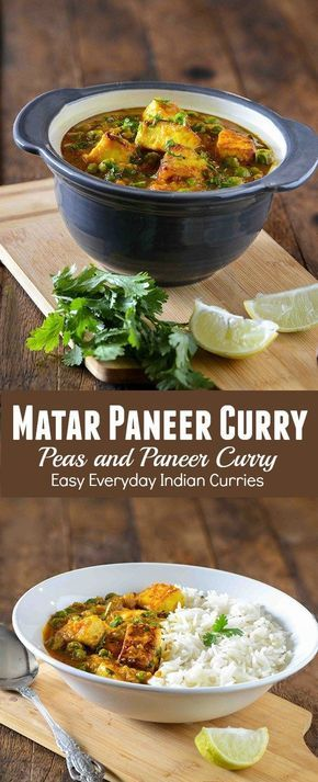 Matar paneer sabzi or matar paneer curry is hearty vegetarian curry from North Indian cuisine. This is one of most popular paneer recipe and many people love it. Matar Paneer or Mutter paneer is often served with with chapati, rice or paratha. One thing t