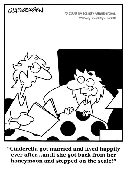 Cartoons About Dieting, Cartoons About Losing Weight: nutrition, weight loss diet, fad diets, diet and exercise cartoons, thinner, calories, burning calories, low-calorie, Thin Lines, dieting tips, diet advice, diet doctors, diet humor, healthy eating, lose weight, obese, cartoons about obesity, unhealthy eating, diet plans, food, eating, eating less, honeymoon weight gain, vacation weight gain, Cinderella, bedtime story, fairy tales.