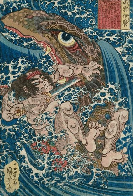 Sea monster - Utagawa Kuniyoshi