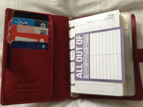 filofax planner wallet hack & set up   #filofax #planner #wallet