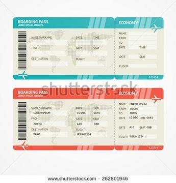 shutterstock boarding pass template fake plane ticket