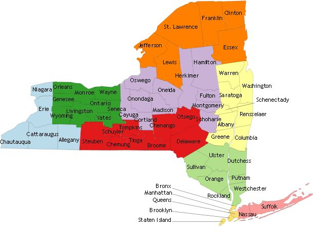 Best NY Grow Map Images On Pinterest Maps State Map And Apples - Maps ny state