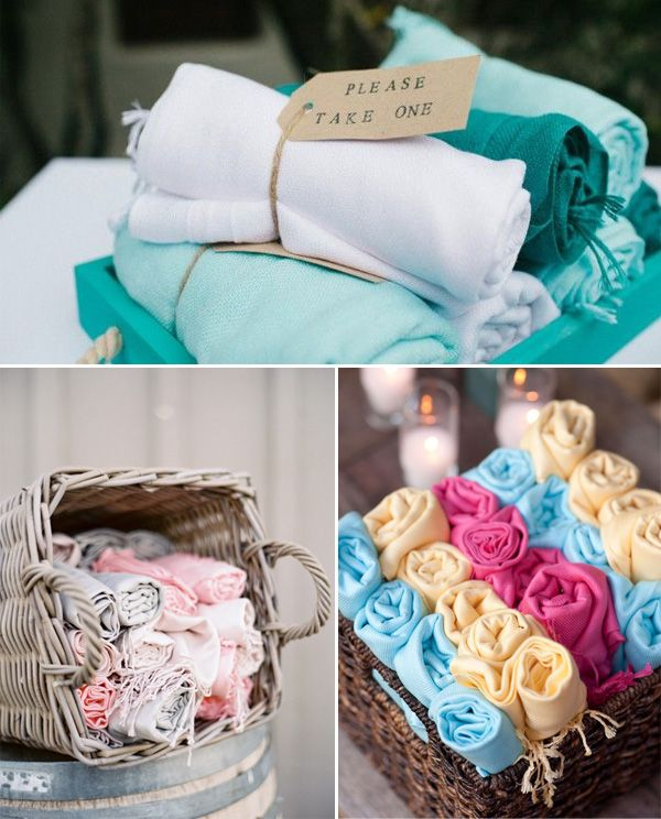 beach wedding ideas THIS WOULD BE CUTE, TO SIT ON TOWELS ON THE BEACH INSTEAD OF CHAIRS