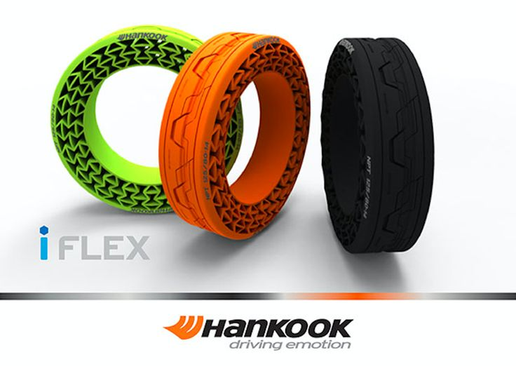Hankook iFlex NPT (non pneumatic tire) concept.  Allows for mounting on standard wheels.