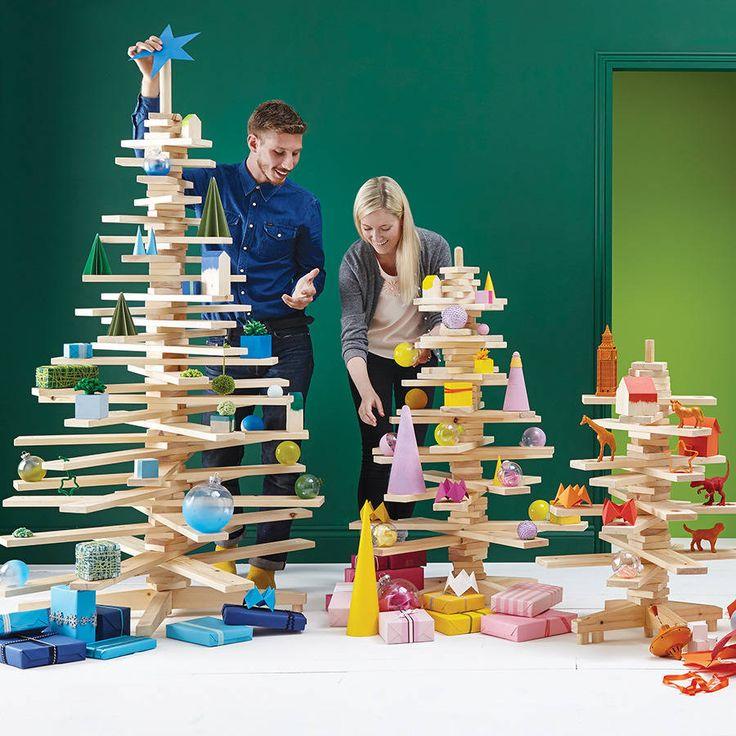 alternative wooden christmas tree by timbatree | notonthehighstreet.com