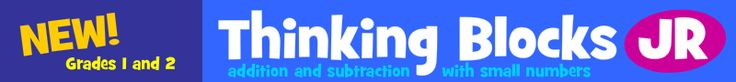 New! Thinking Blocks jr. - Model and Solve Math Word Problems for grades 1-2 numbers to 20
