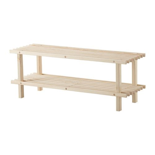 BUNDIS Shoe rack IKEA Untreated wood; can be treated with oil, wax or glazing paint for increased durability and a personal touch.