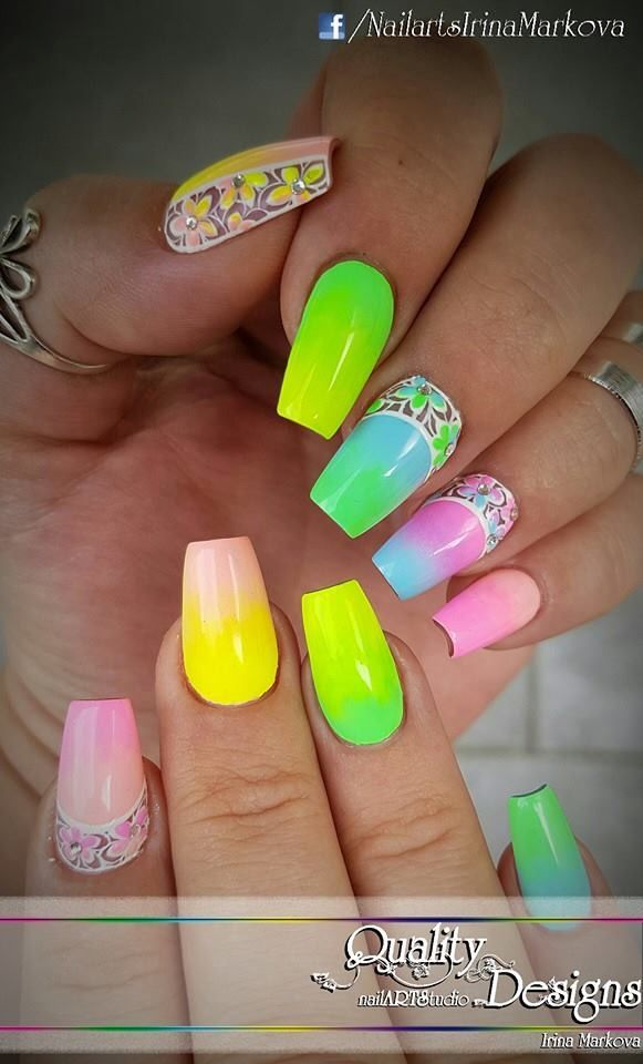 The 106 best Summer Nail art ☀ images on Pinterest | Summer nail ...
