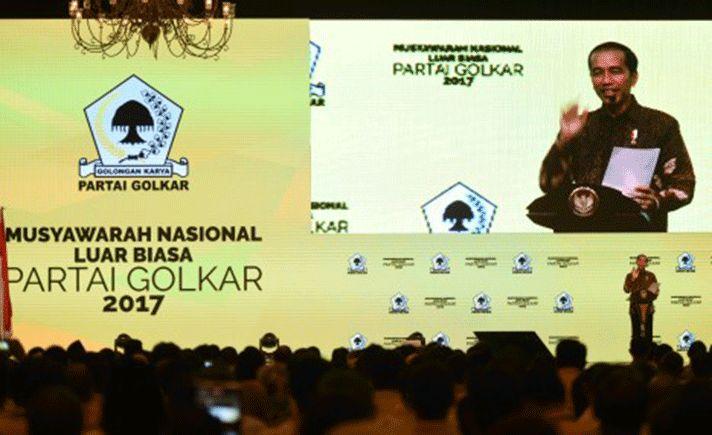 Menjelang tahun politik pada 2018, Presiden Joko Widodo mengatakan Partai Golkar harus terus meningkatkan profesionalisme.