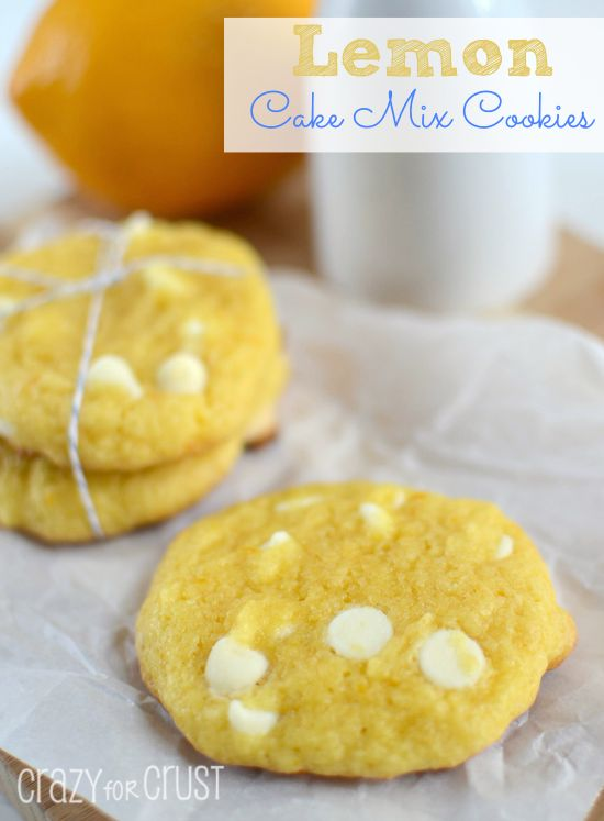If you love lemon, you'll love these Lemon White Chocolate Cake Mix Cookies. Easy, fast, and super lemony delicious!