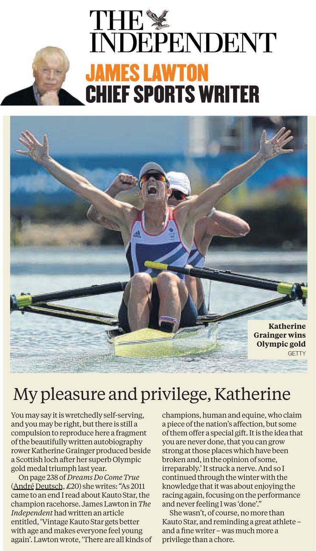 The Independent - Katherine Grainger