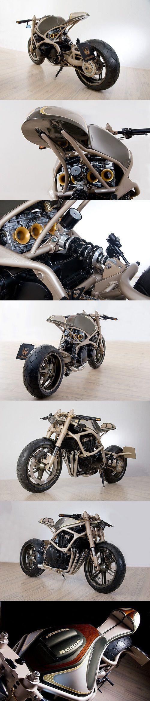"Holy shift. This is my dream bike. A Custom Wolf - ""Scoop"" Café Racer Freaken…"