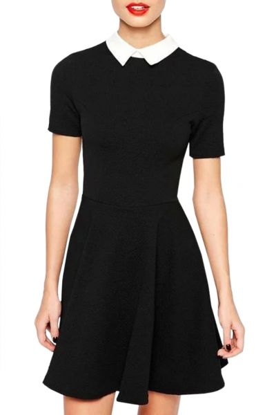 Essential A-Line Little Black Dress...how cute, need textured tights and Docs or Mary Jane heels...