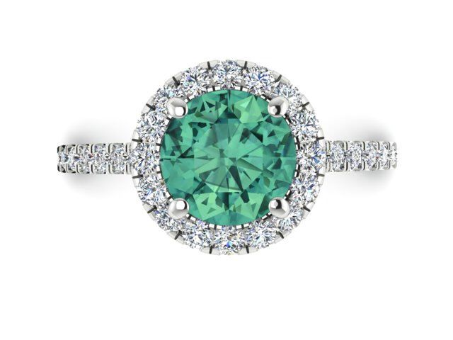 Sapphire ring, Green Sapphire ring, Diamond Engagement ring, Green natural sapphire ring, Uniuqe Sapphire ring, Diamond halo Wedding ring by BridalRings on Etsy https://www.etsy.com/listing/479769865/sapphire-ring-green-sapphire-ring