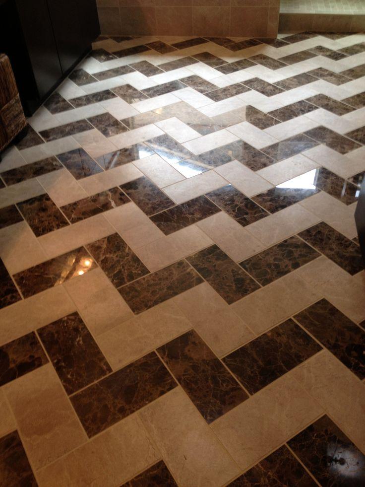 chevron tile pattern | Bathroom | Pinterest