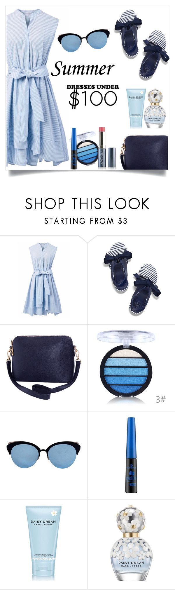 """""""Summer dress under $100"""" by gmg5 ❤ liked on Polyvore featuring Chicwish, Tory Burch, Humble Chic, Christian Dior, Forever 21, Marc Jacobs, summerstyle, dressunder and summer2017"""