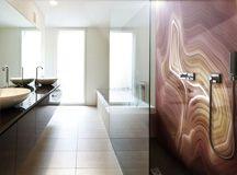 Alex Turco - Art Graphic Panels Agate Bathroom wall