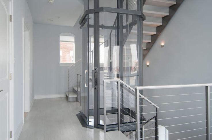 Octagonal visilift residential elevator visilift glass for Modern home elevators