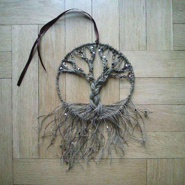 Drzewko szczęścia  #tree #drzewko #koraliki #nici #string #wstążka #dratew #makrame #makrama #handmade #ręcznierobione #mikadiakow