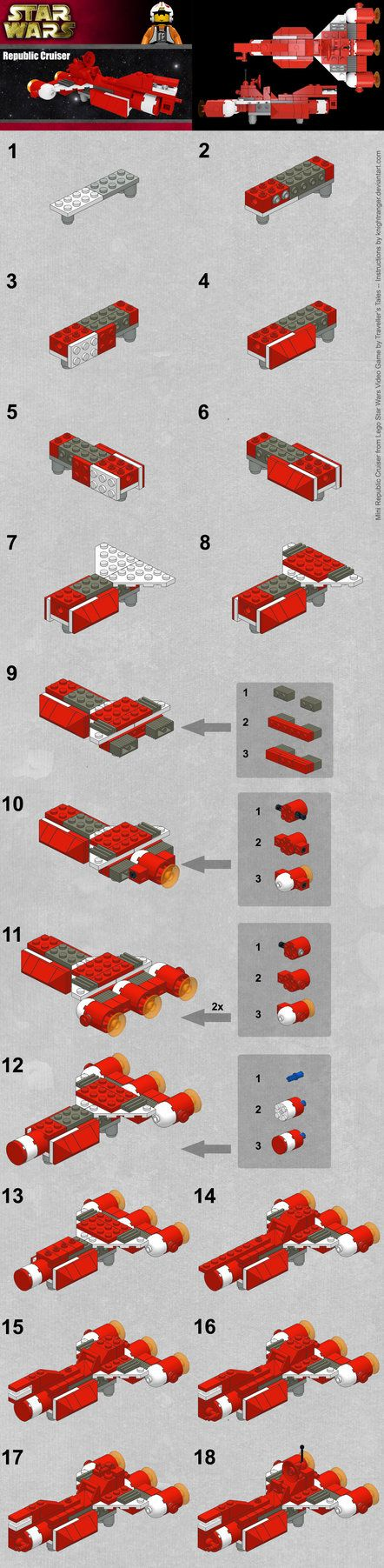 Mini Republic Cruiser Instructions by KnightRanger.deviantart.com on @DeviantArt
