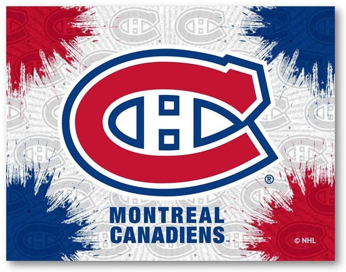 Montreal Canadiens NHL D1 Printed Logo Canvas.  Visit SportsFansPlus.com for Details.
