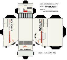 Star Trek Custom Cubeecraft Templates by CyberDrone on deviantART