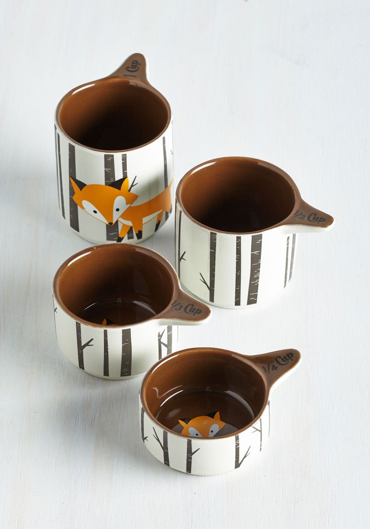 Walk on the Wily Side Measuring Cups. These quirky, stackable measuring cups will help you cook delicious dishes in cunning style. #multi #modcloth