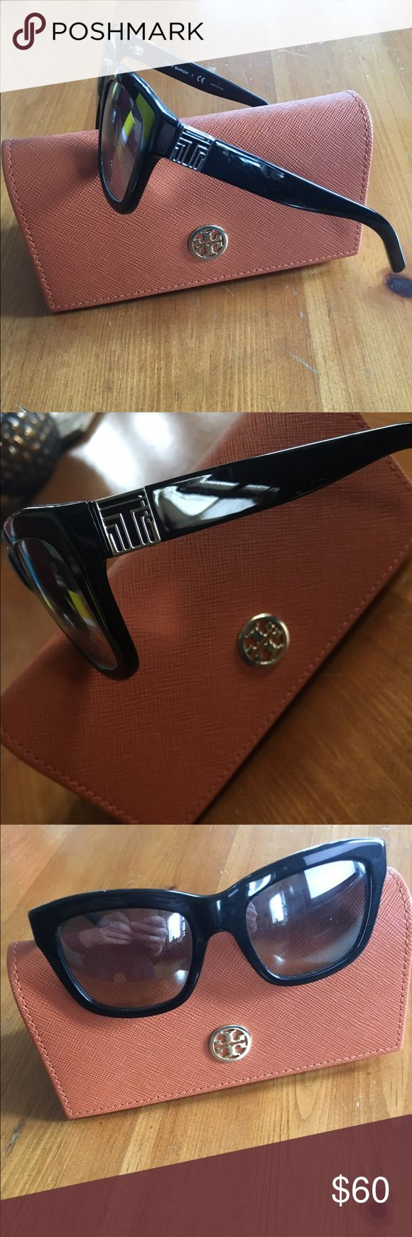 Authentic Tory Burch Sunglasses Authentic Tory Burch Sunglasses. All black, dark lens with slight silver film. The film has a flat shine. Silver hardware. Silver Tory Ts on both arms. Comes with case. Tory Burch Accessories Sunglasses