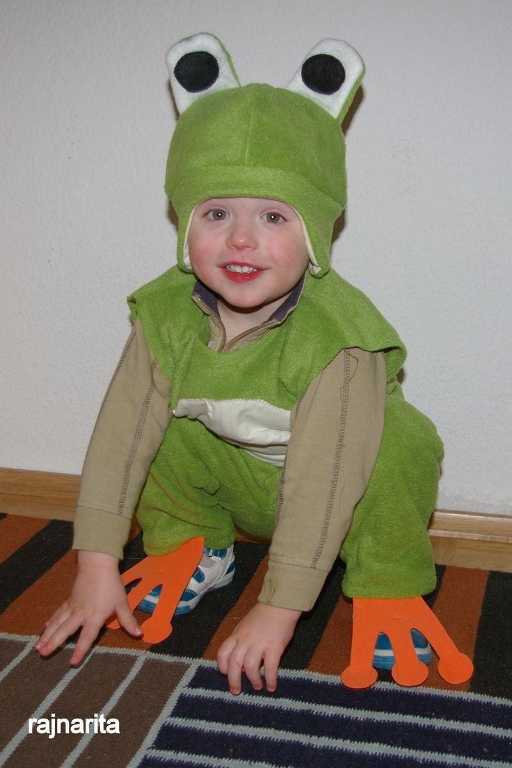 Great DIY frog and lion costumes for carnival or Halloween! Made by FabRita