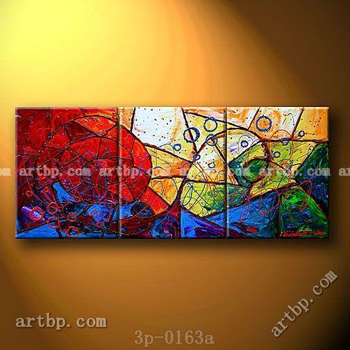 스테인드 글라스 속임수 캔버스에 유화 벽 장식 패널 상점 3 3 개/ set 벽 예술 아름다운 풍경 그림을 B