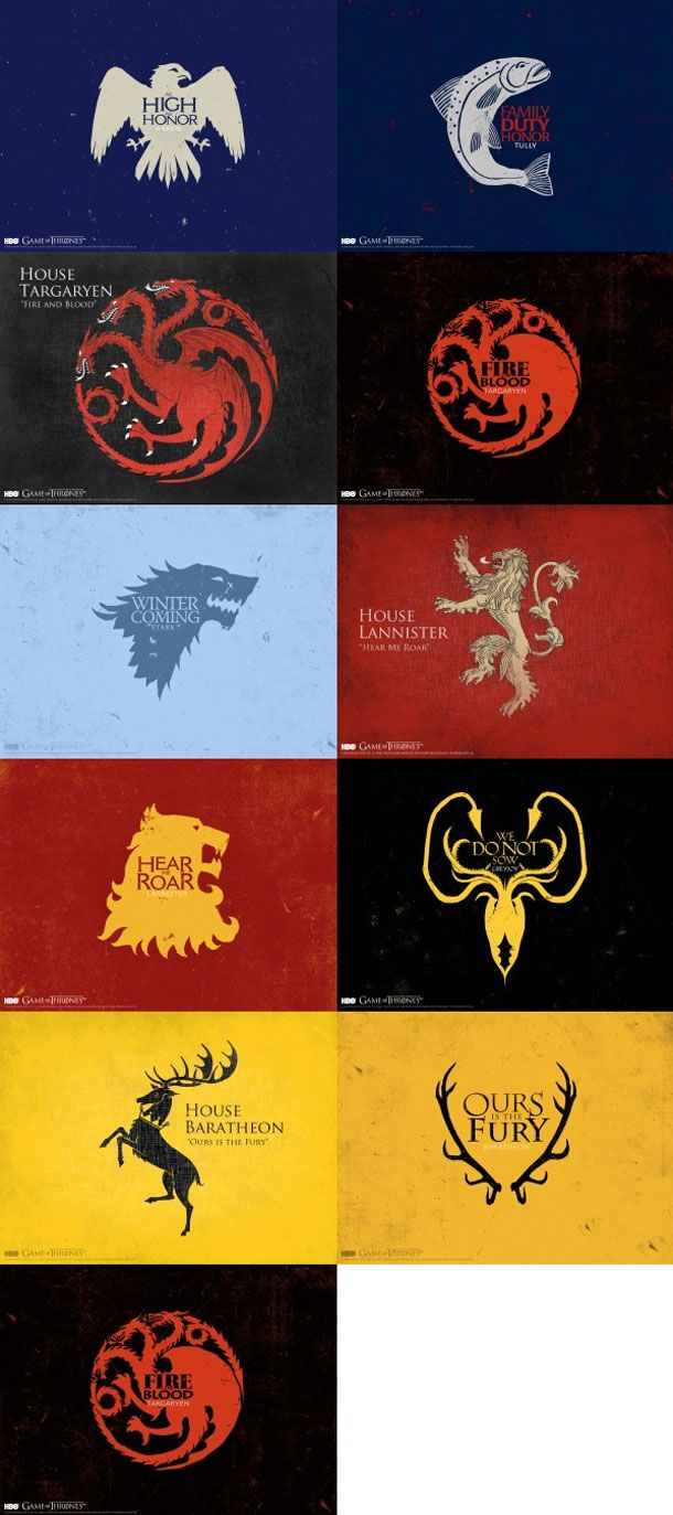 one of my favorite things about Game of Thrones is the heraldry! love this kinda stuff. Nec Timide, Nec Timere.
