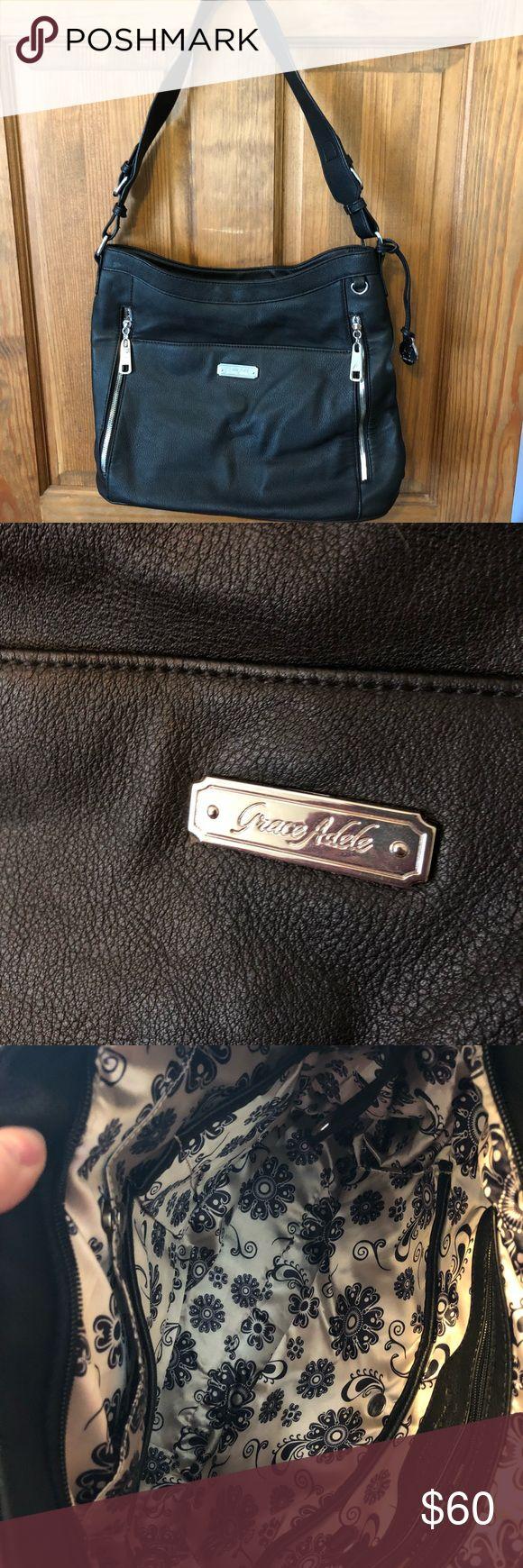 Grace Adele Hobo Bag Grace Adele Black Hobo Bag. Never used.  Comes with storage bag. Bags Hobos