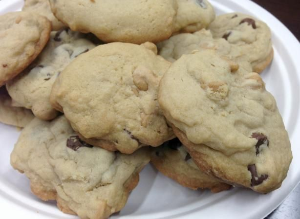 Toll House Butterscotch Chip Cookies (I did half butterscotch half chocolate chips)